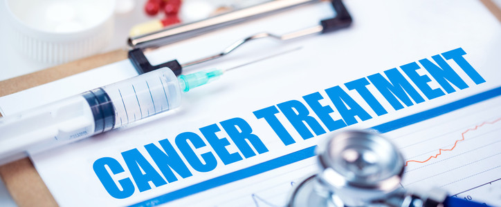 medical analysis concept: cancer treatment